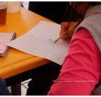 Una participante al taller de diseño participativo. San Miguel Topi8lejo, 2012.